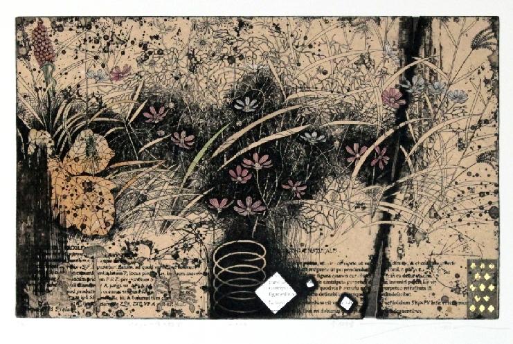 Japanese contemporary print artist printmaker Imamura Yoshio Rejuvenation